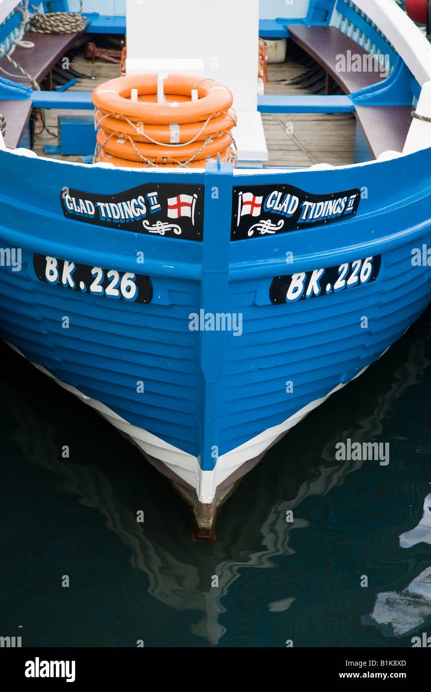 Fishing boat Seahouses Northumbria - Stock Image