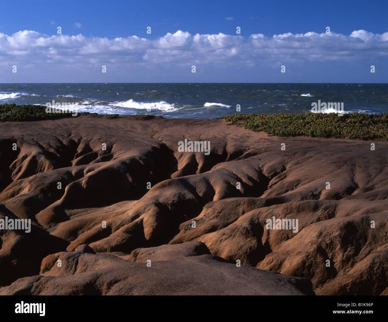 Pescadero beach, west view, San Mateo County, California - Stock Image