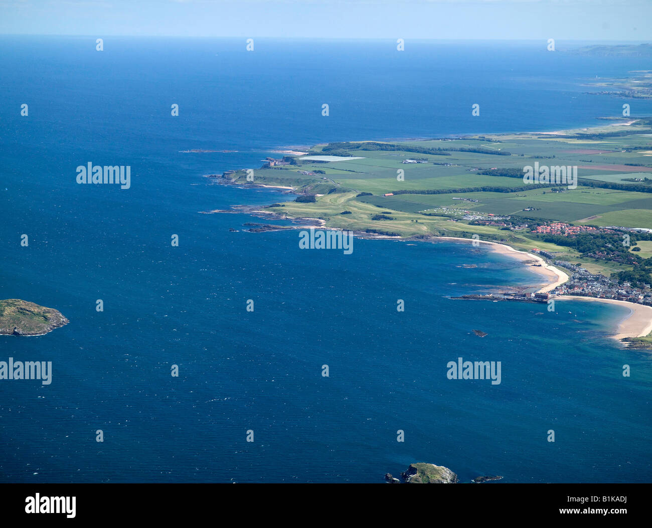 Entrance to the Firth of Forth, & The North Berwick Coast, Firth of Forth, Central Scotland - Stock Image