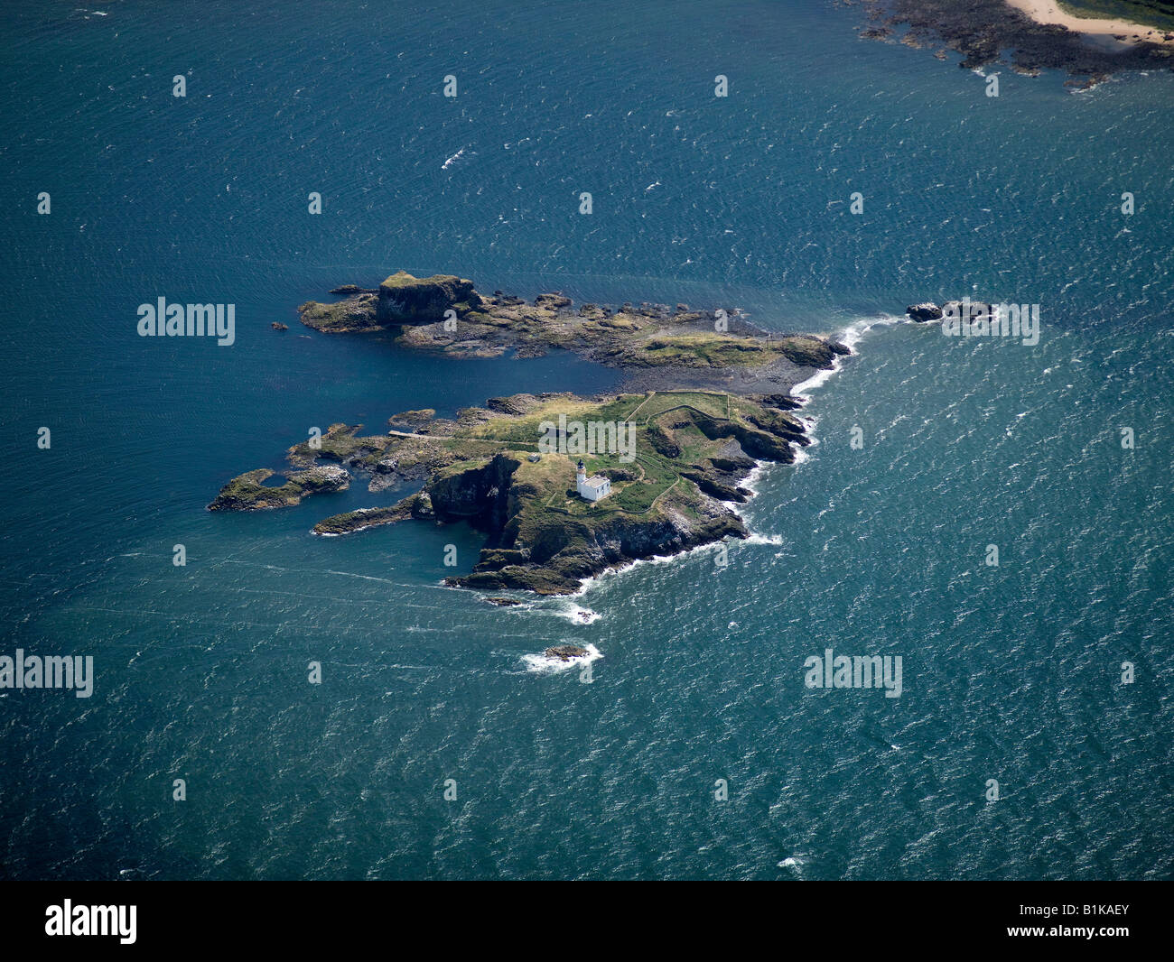 Island of Fidra, in the Firth of Forth, Lothian, Scotland - Stock Image