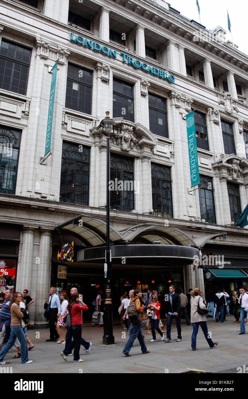 exterior of the london trocadero shaftesbury avenue london uk - Stock Image
