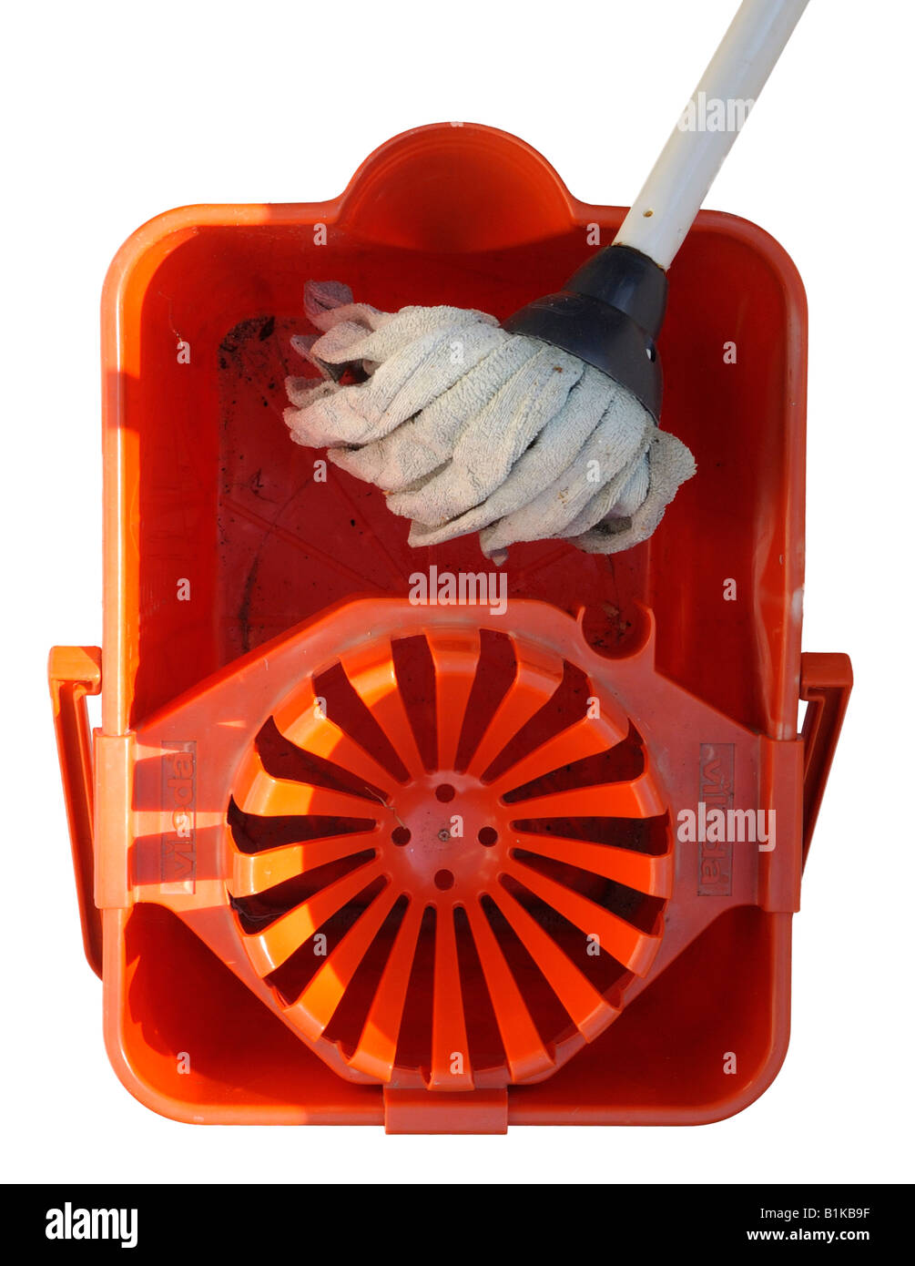 Mop and Empty Bucket - Stock Image