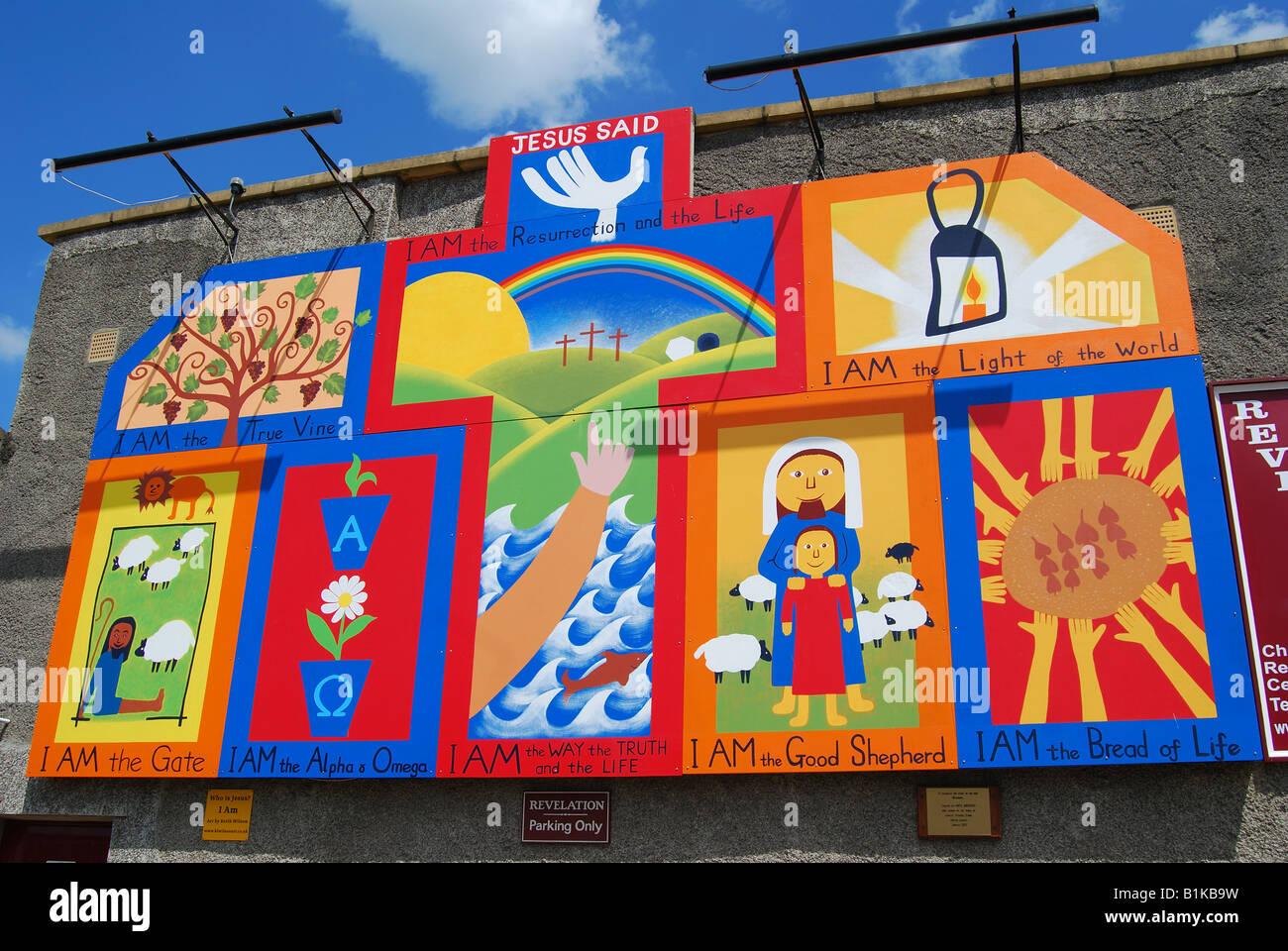 Millenium Children's Christian Mural, Chippenham, Wiltshire, England, United Kingdom - Stock Image