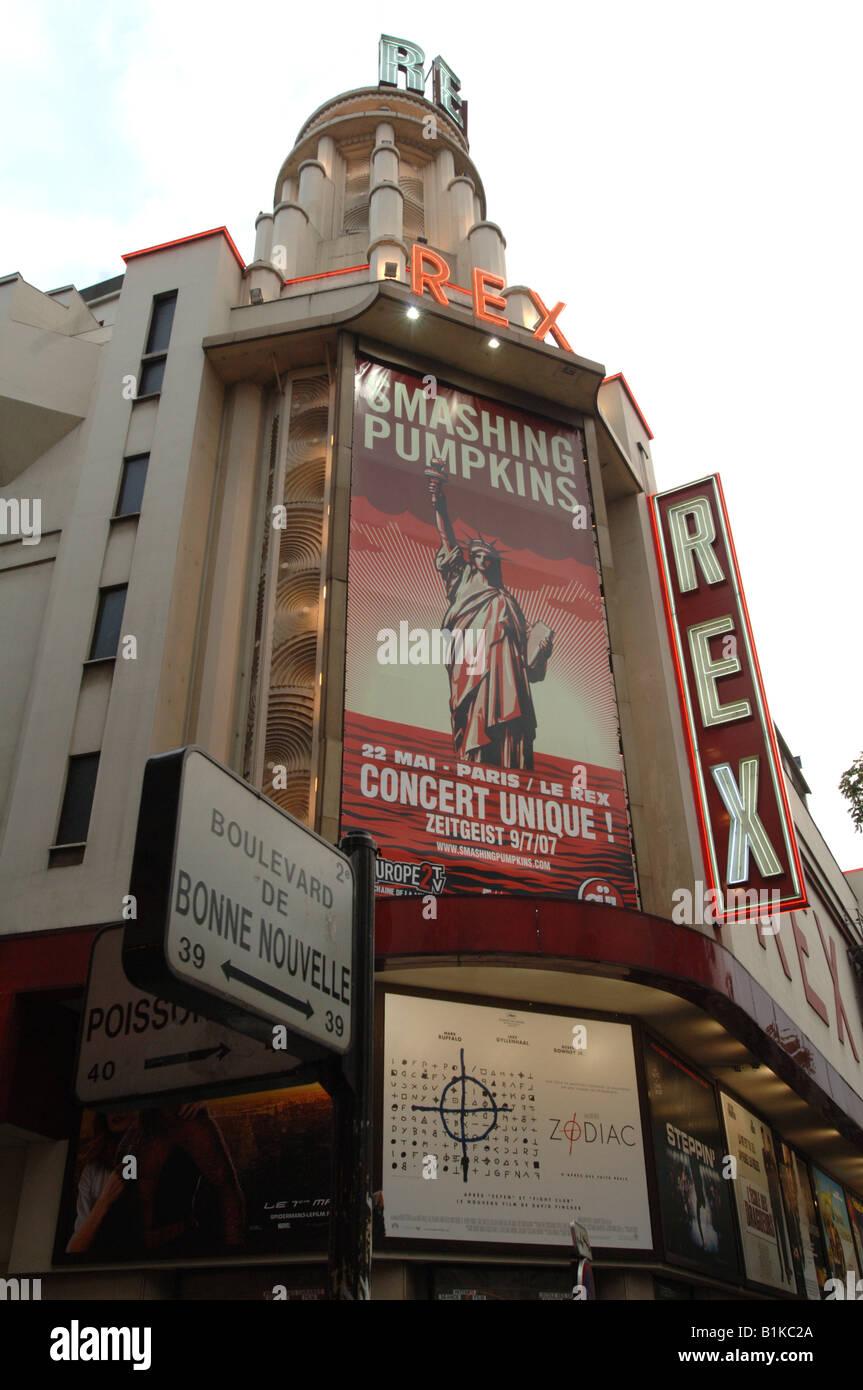 The Rex Theatre Paris France - Stock Image