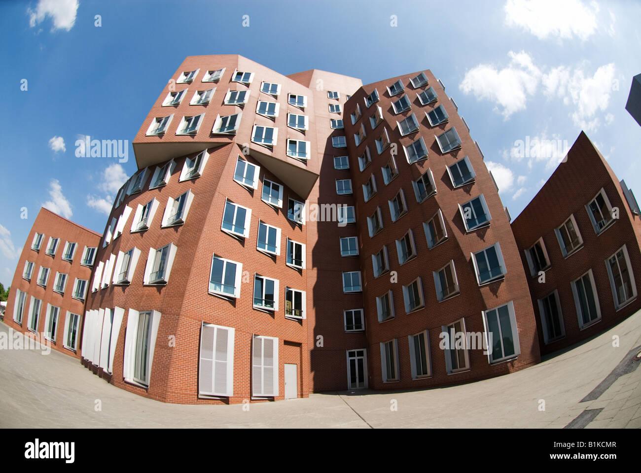 Frank Gehry Building, Medienhafen Duesseldorf, Germany - Stock Image