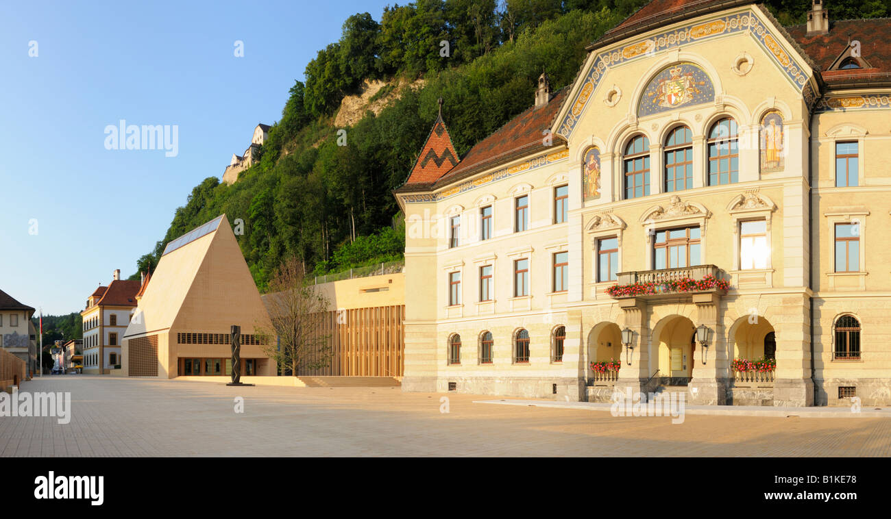 The Parliament Houses of Vaduz, Liechtenstein FL - Stock Image