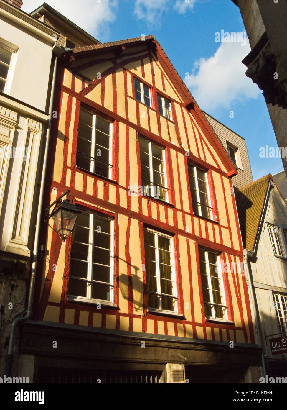 Period half timbered building in centre of Rouen Normandy France EU - Stock Image