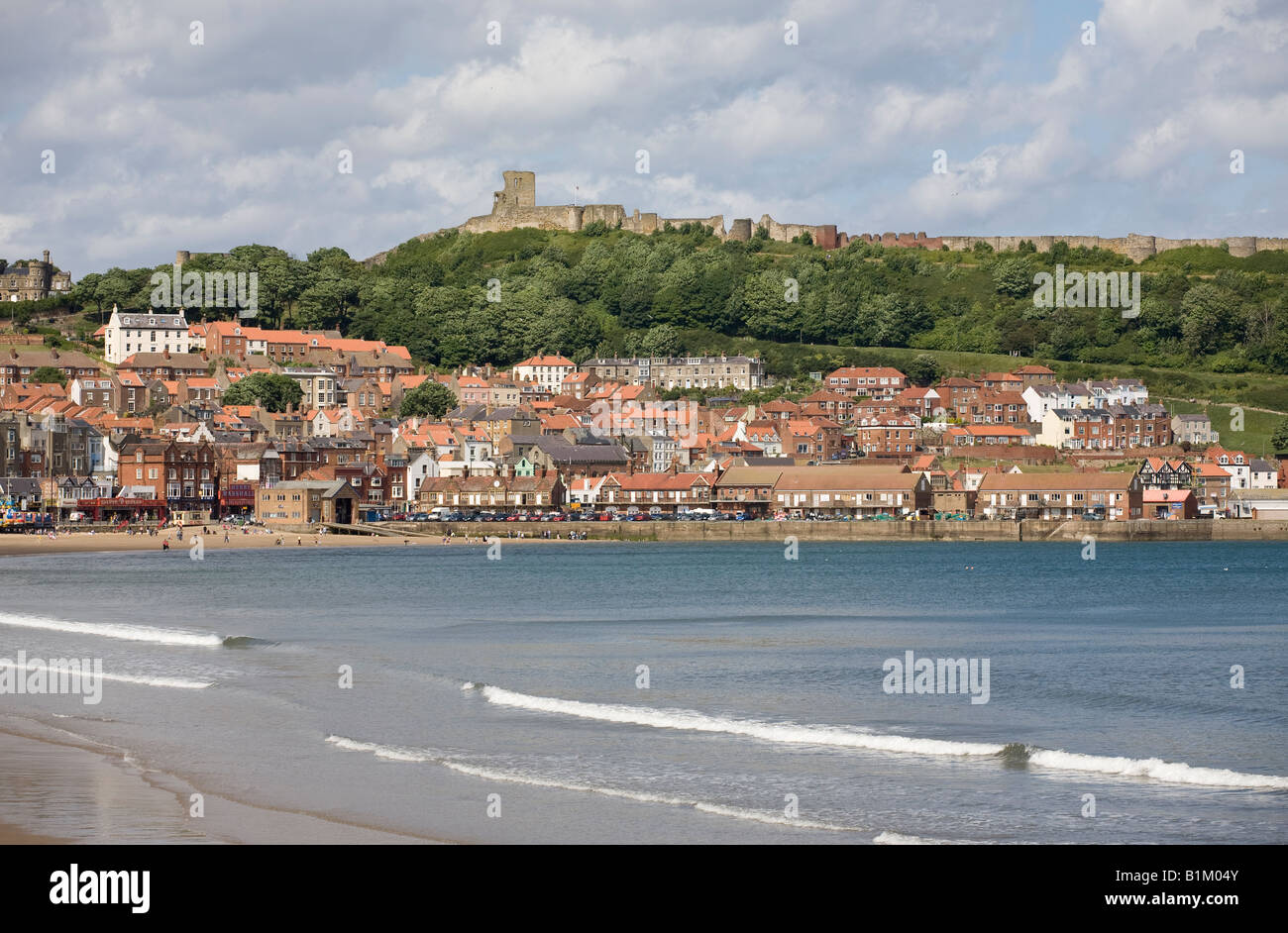 A view of the North Yorkshire sea side resort of Scarborough England UK - Stock Image