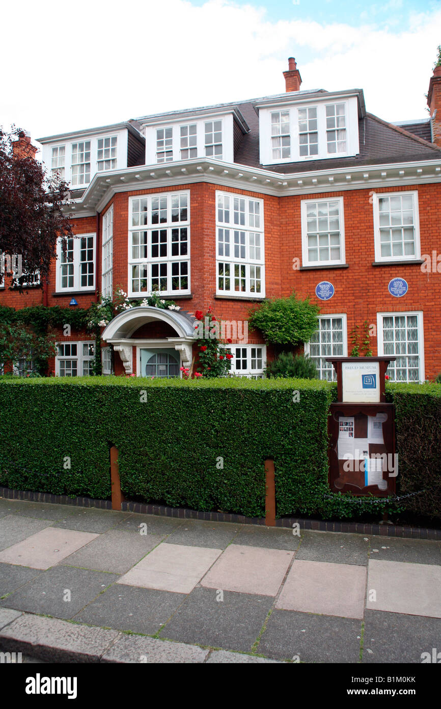 The home of Sigmund Freud, Hampstead, London - Stock Image