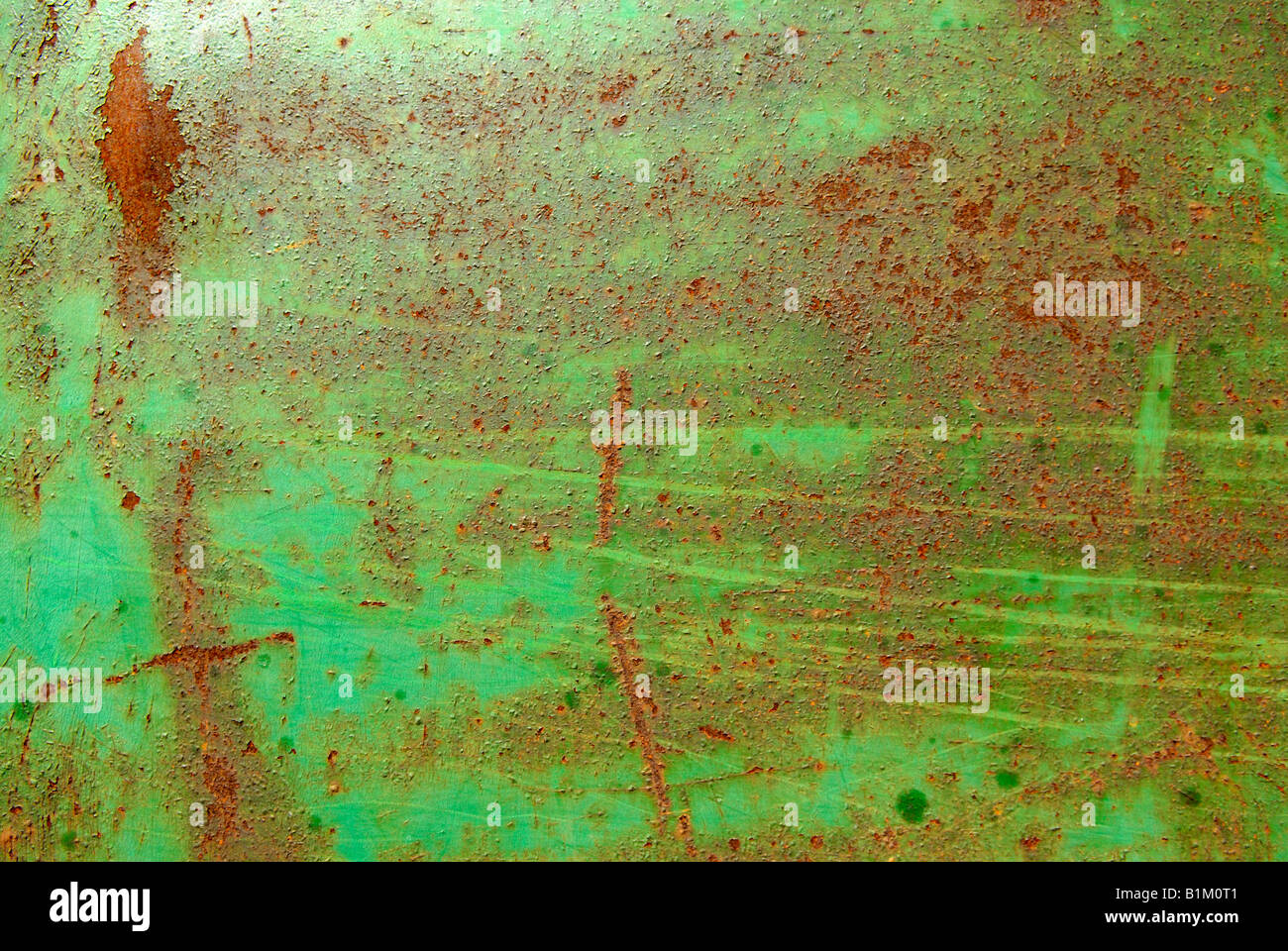 GREEN & RUSTY - Stock Image