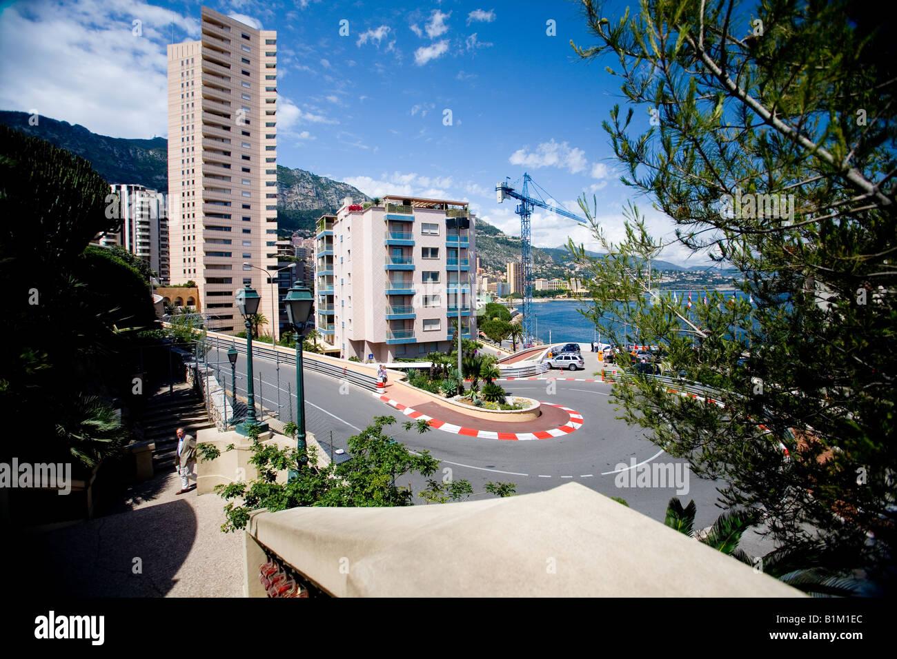 Formula 1 race track Monte Carlo Monaco Grand prix - Stock Image