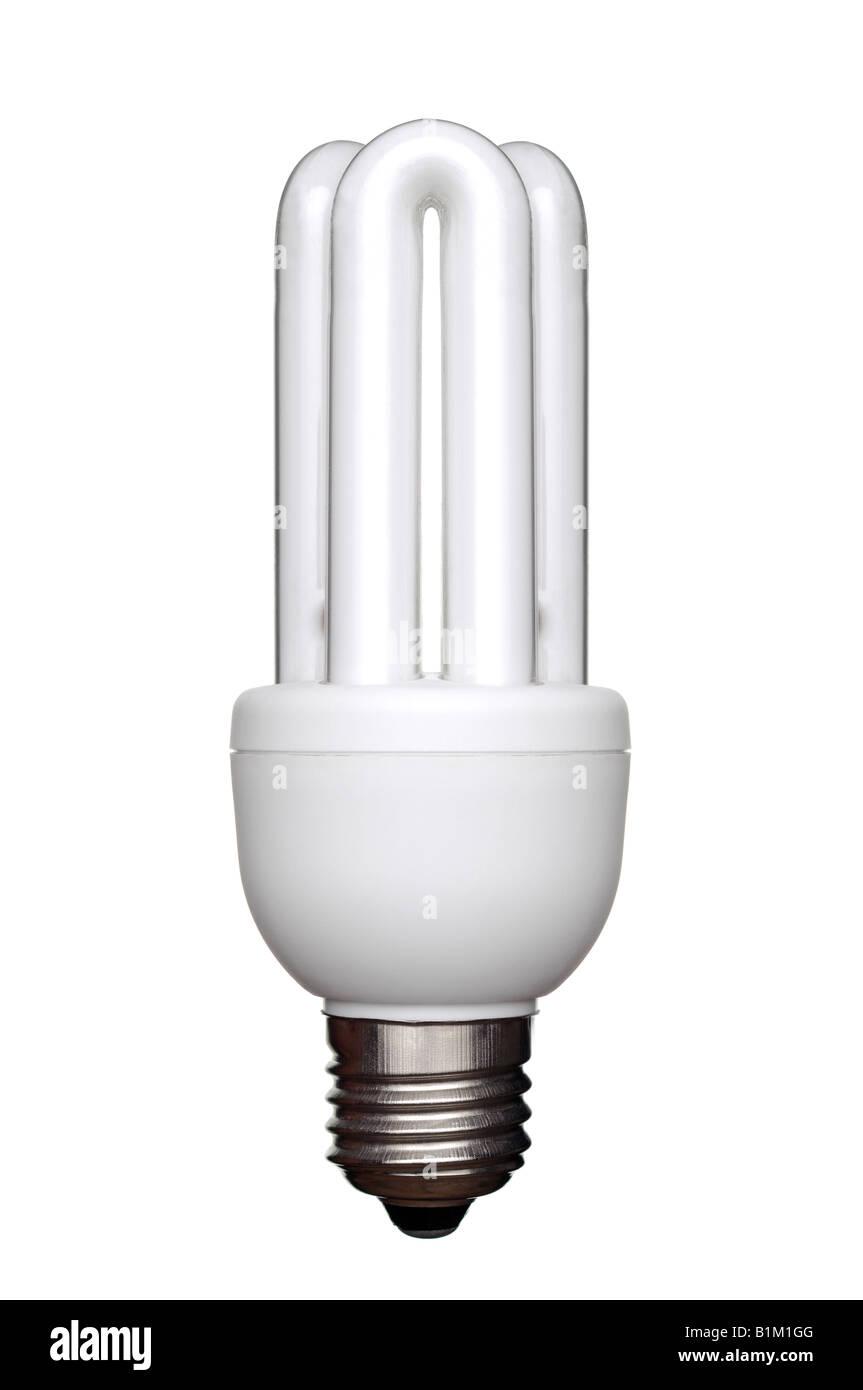Energy Saving Lightbulb an Environmentally Friendly Alternative to Traditional Light Bulbs - Stock Image