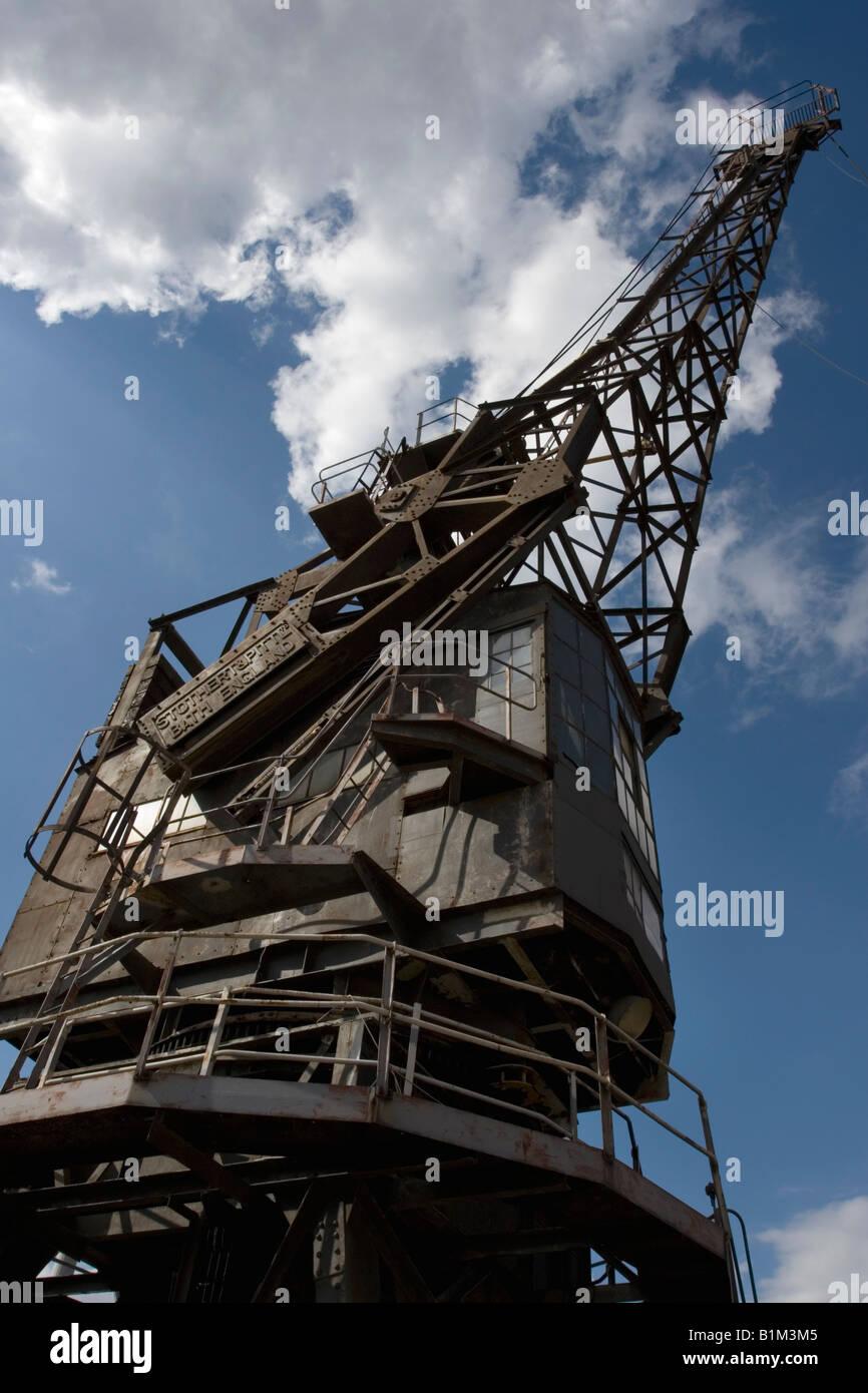 Crane at Chatham Dockyard - Stock Image
