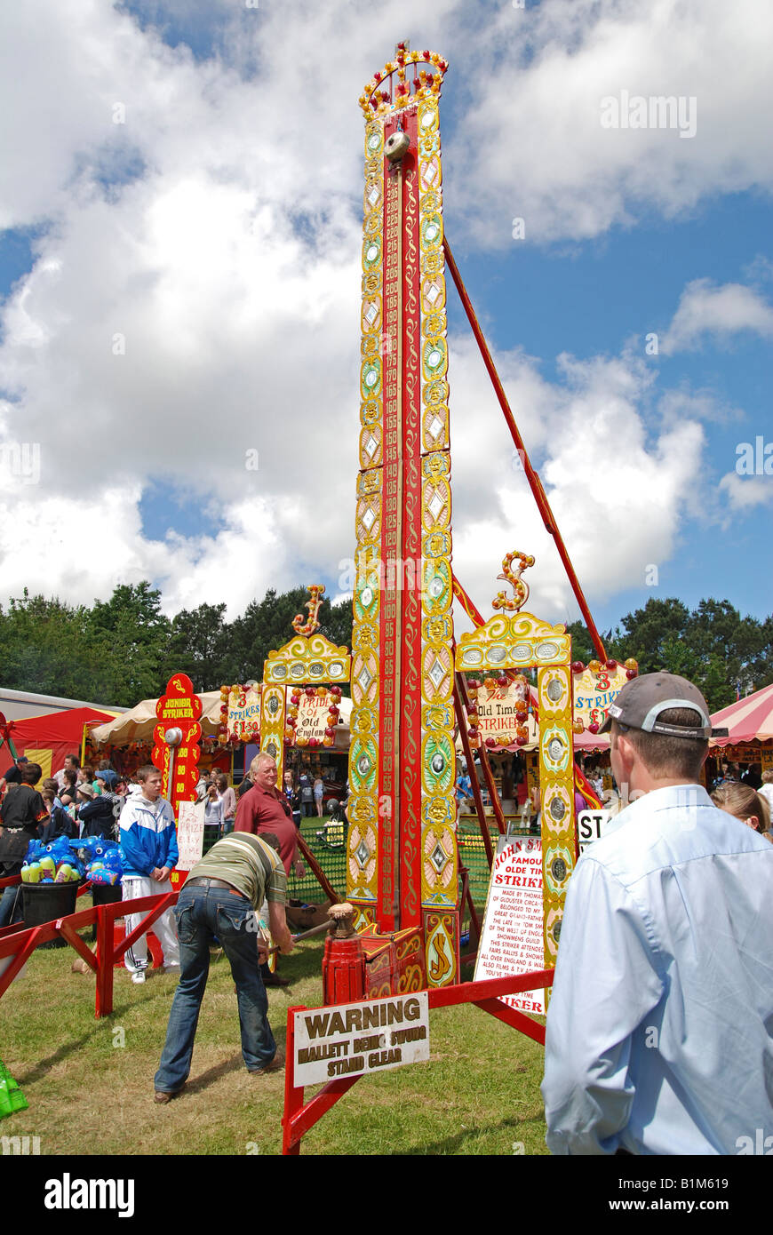 an old style fairground attraction at the royal cornwall show,wadebridge,cornwall,england,uk - Stock Image