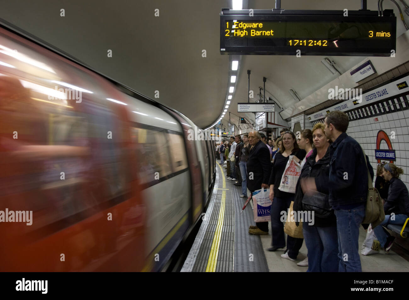 Northern Line - Leicester Square Station - London Underground - Stock Image