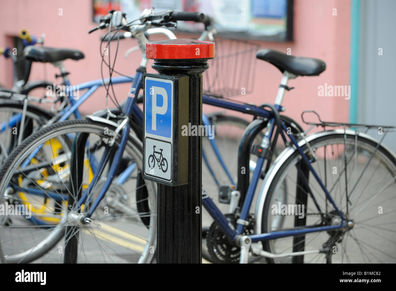 City of Brighton introduce parking bays for bicycles. Picture by Jim Holden. - Stock Image