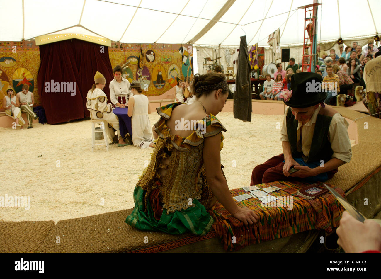Performers at Giffords Circus - Stock Image