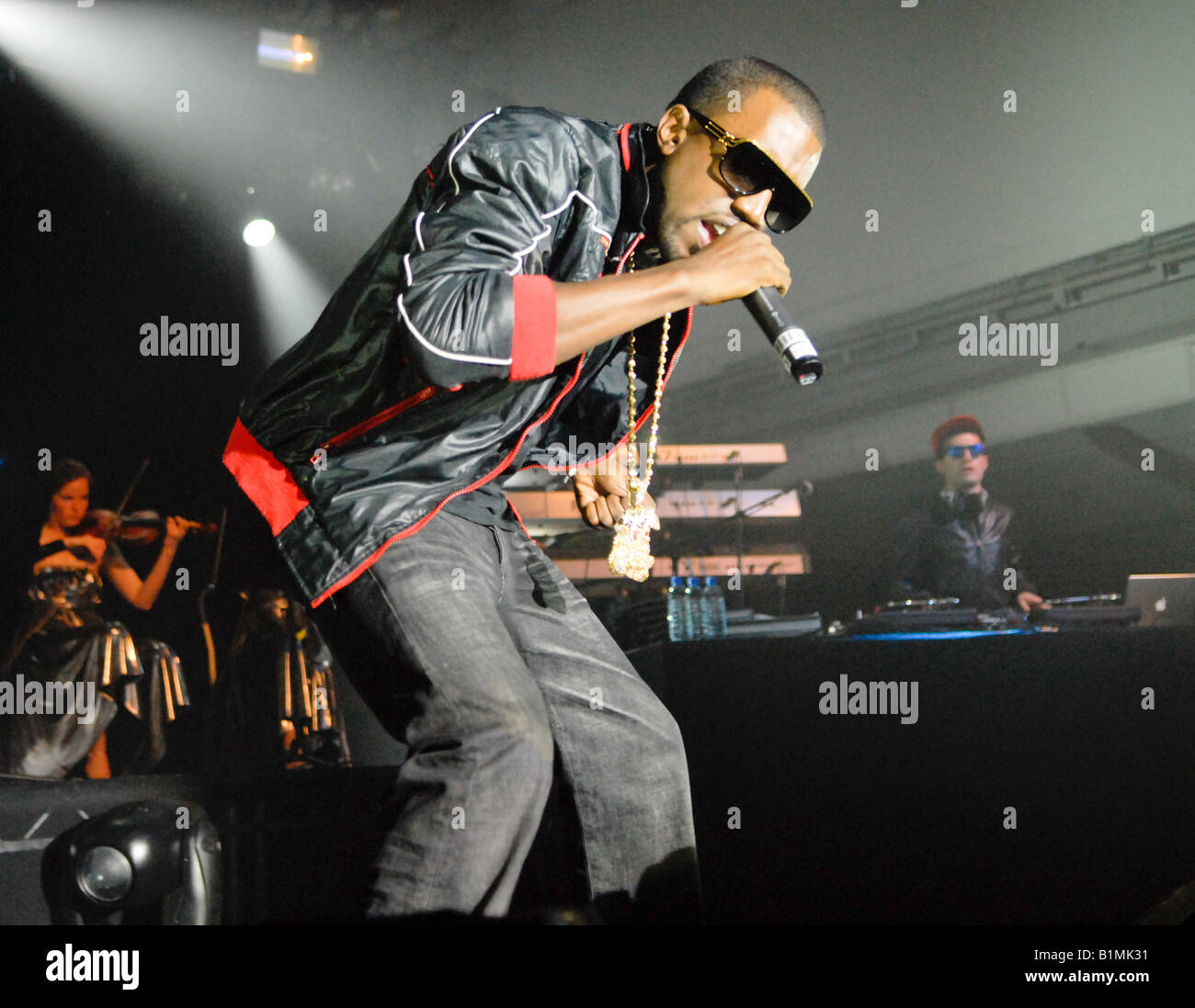 Kayne West  live in concert - Stock Image