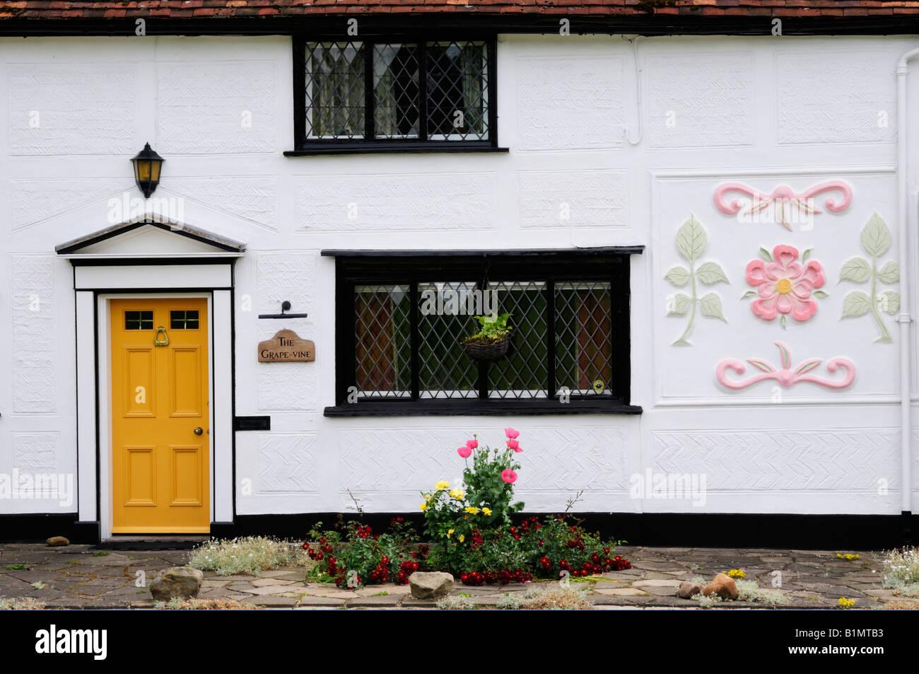 Detail of Cottage at Cavendish, Suffolk, England, UK - Stock Image
