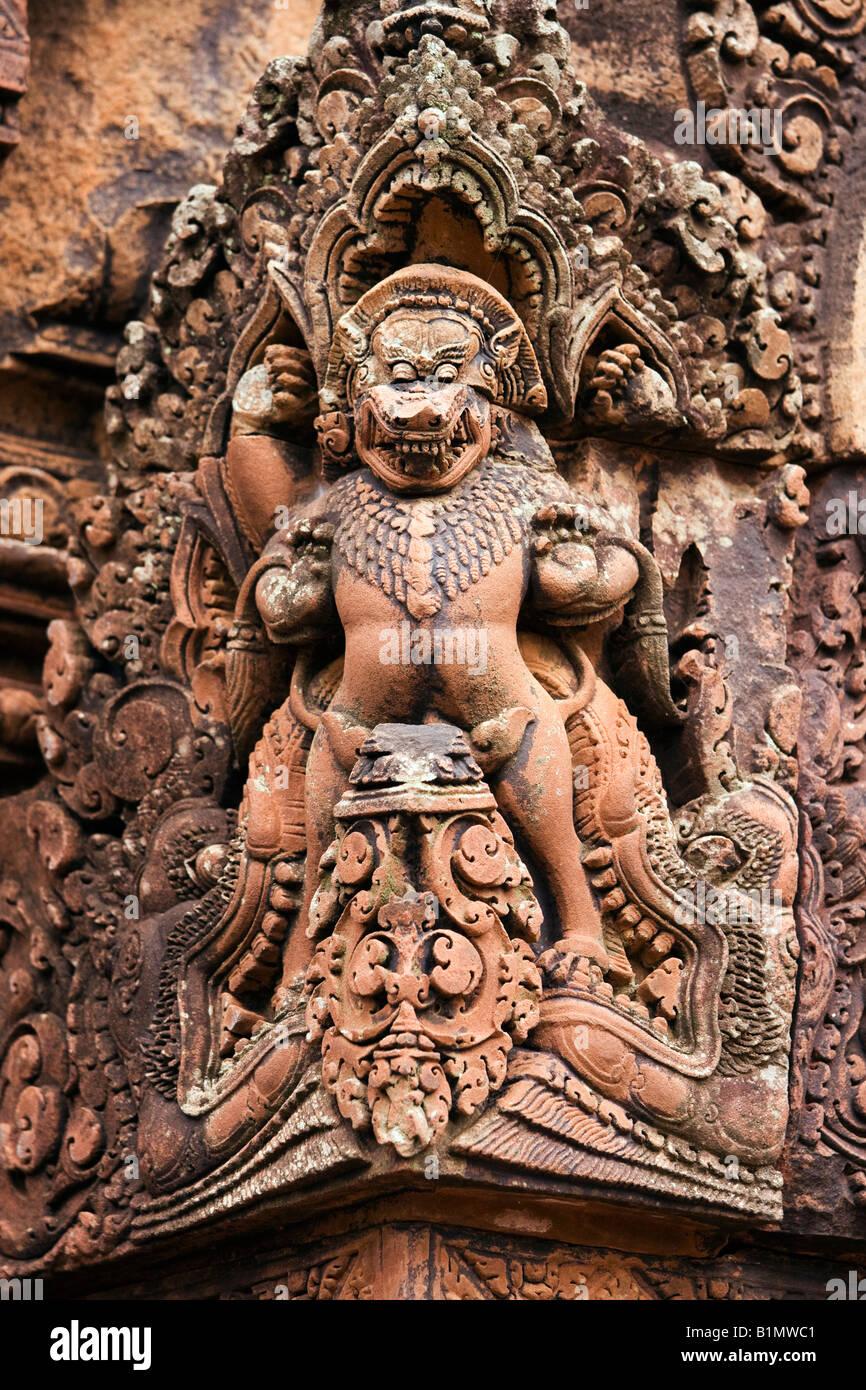 Angkor, Banteay Srei temple; Siem Reap, Cambodia - Stock Image