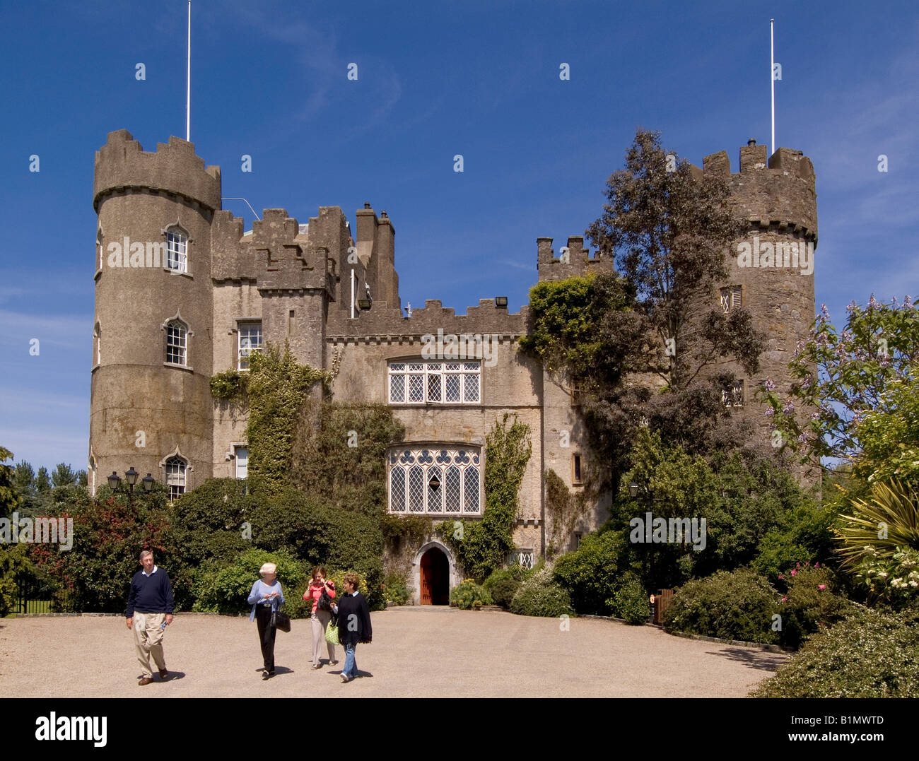 Malahide Castle Dublin Ireland - Stock Image