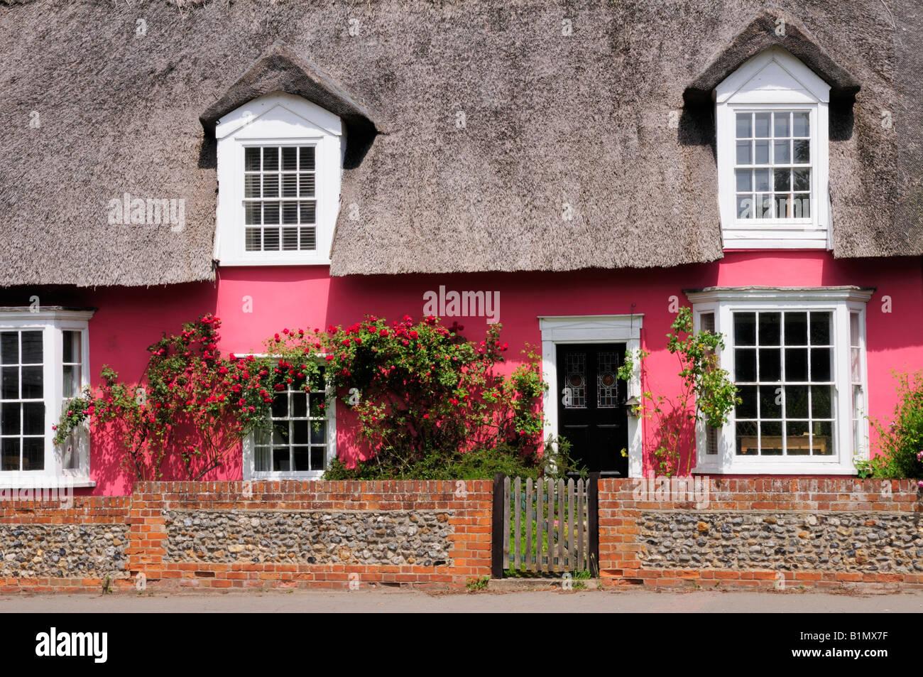 Cottage at Cavendish Suffolk England UK - Stock Image