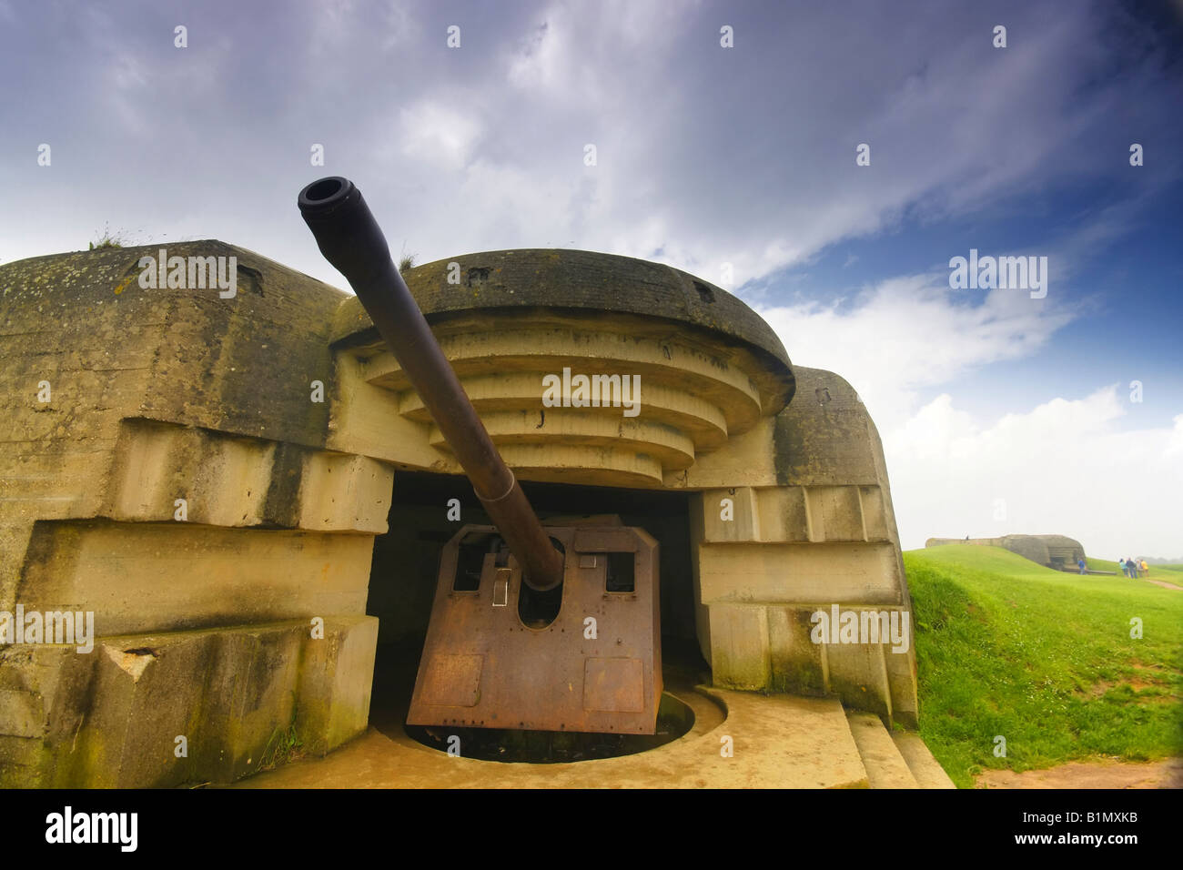 Normandy France German Naval Gun At The Longues Sur Mer Costal