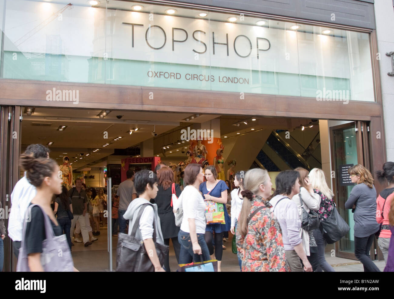 Top Shop flagship store Oxford Street London - Stock Image