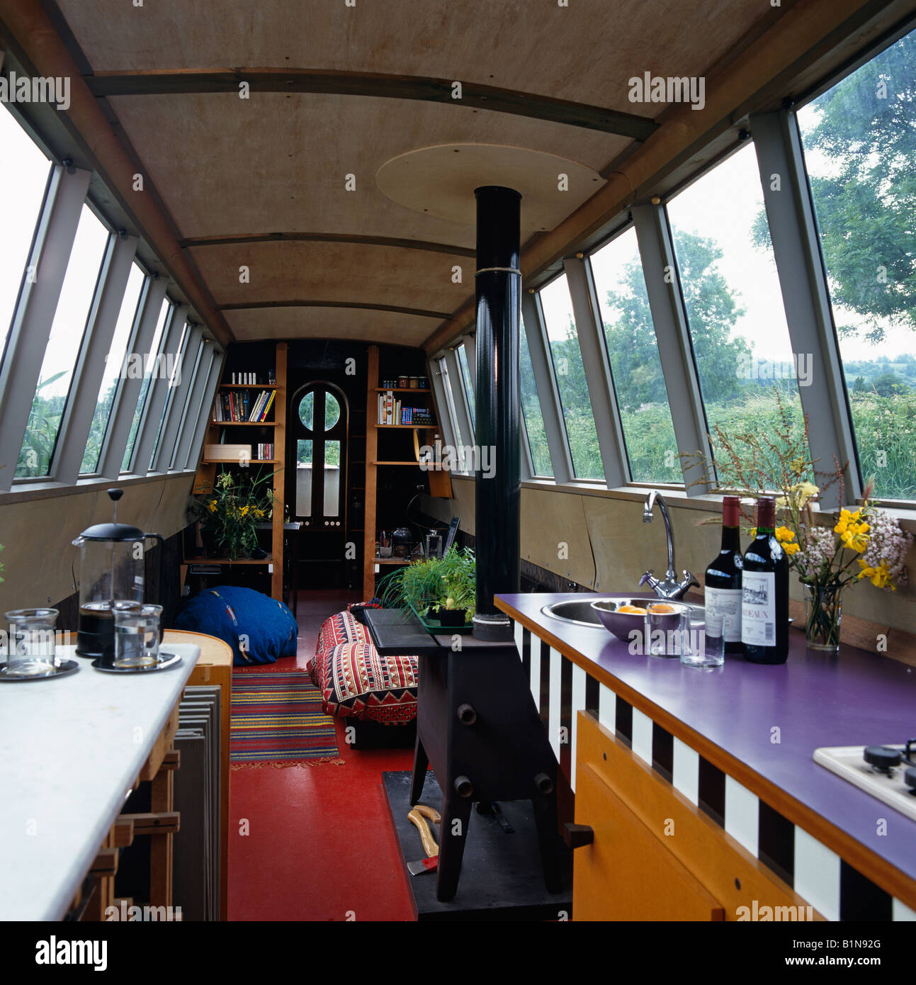 Canal Boat Interior Stock Photos & Canal Boat Interior ...