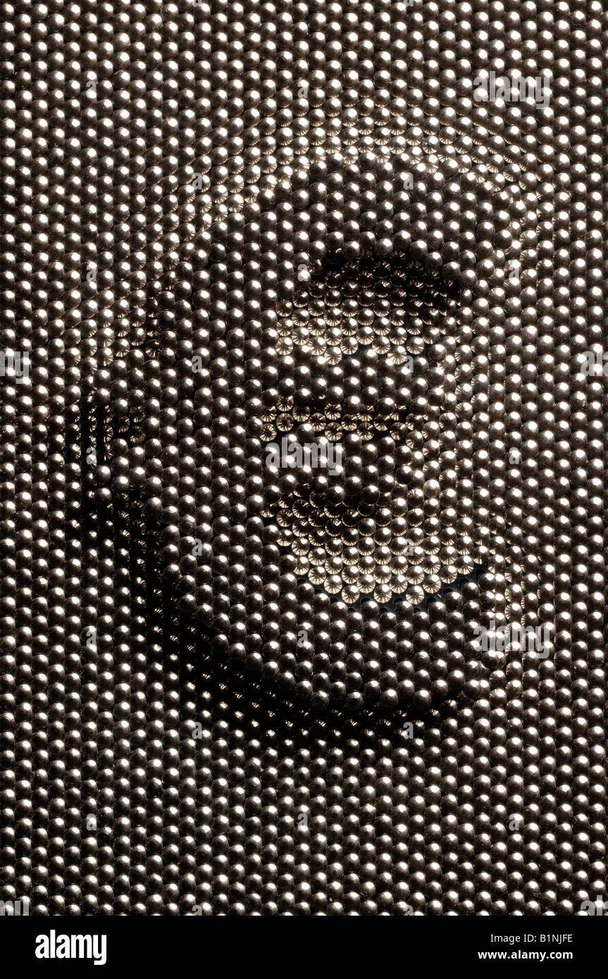 Euro shape in a pin matrix board Stock Photo: 18300562 - Alamy