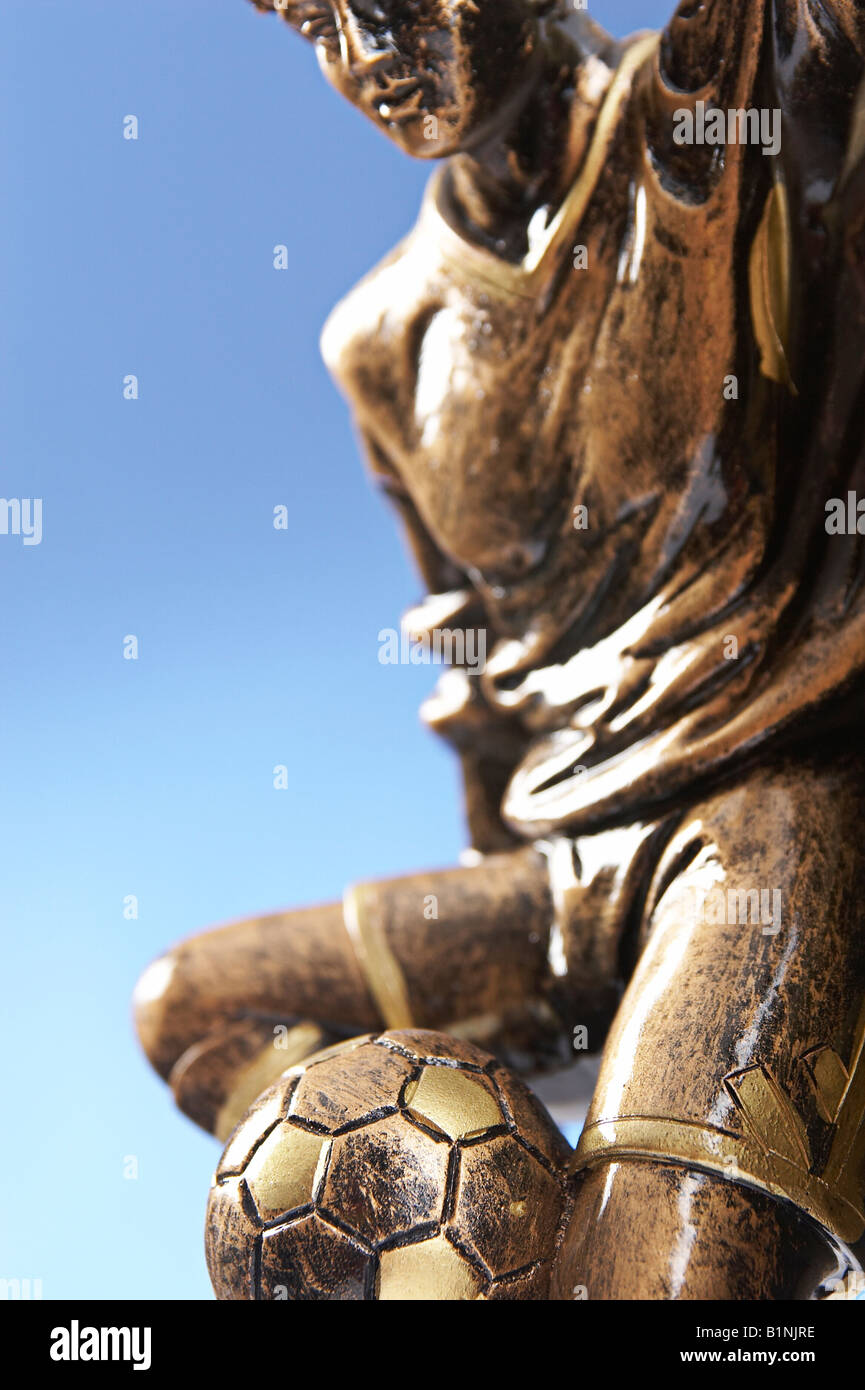 Close up of footballer trophy - Stock Image