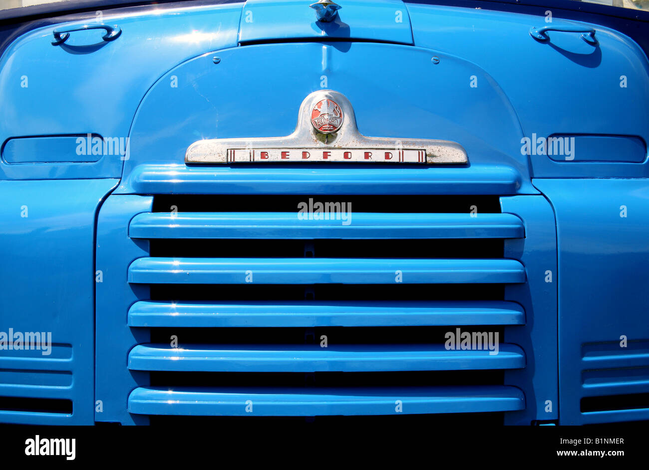 Detail of vintage Bedford truck - Stock Image