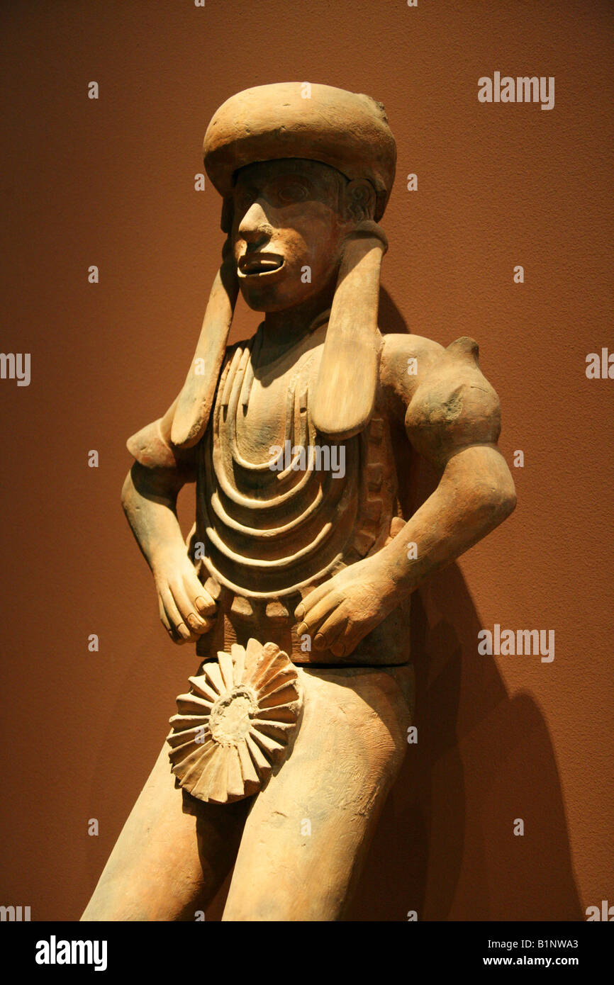 Pre-Columbian Aztec Statue, National Museum of Anthropology, Chapultepec Park, Mexico City, Mexico - Stock Image
