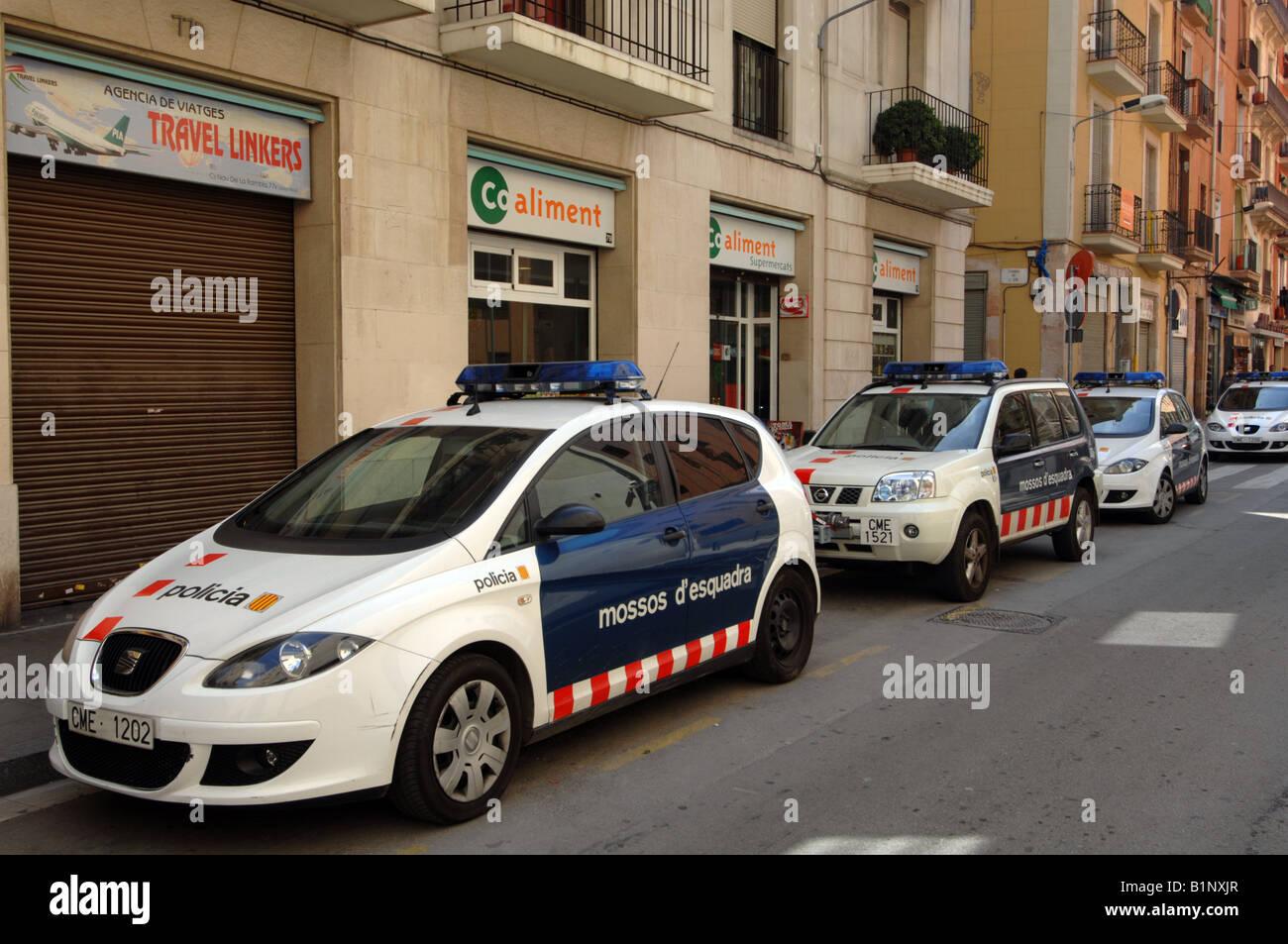 Spanish Police Cars Spain Stock Photo 18306927 Alamy