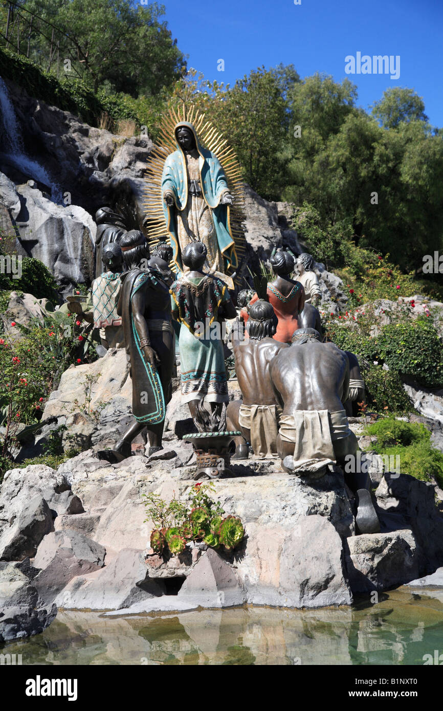 Tepeyac Hill And Garden Where The Virgin Mary Is Said To Have Appeared.  Basilica Of