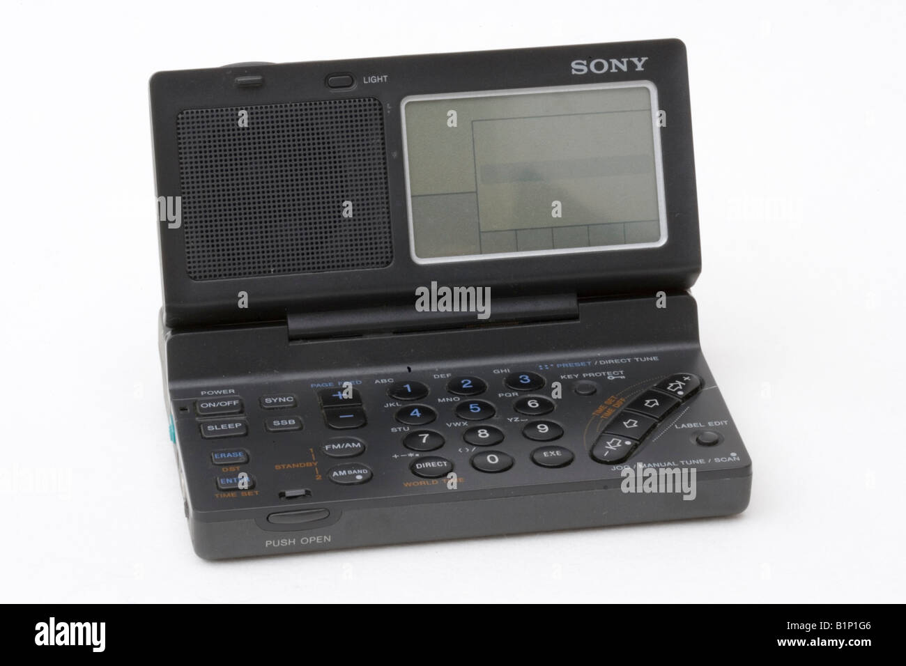 Miniature Sony pocket world radio UK Stock Photo