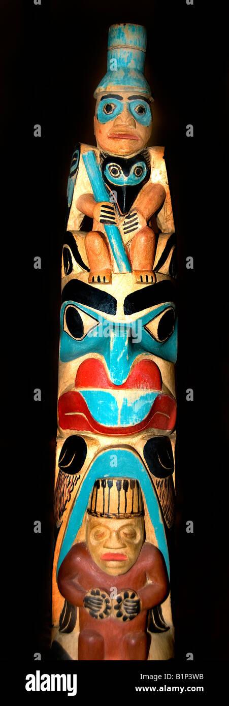 Chief Gadeelip regalia British Columbia 20th century Alver Tait 1943 Luuya'as - Stock Image