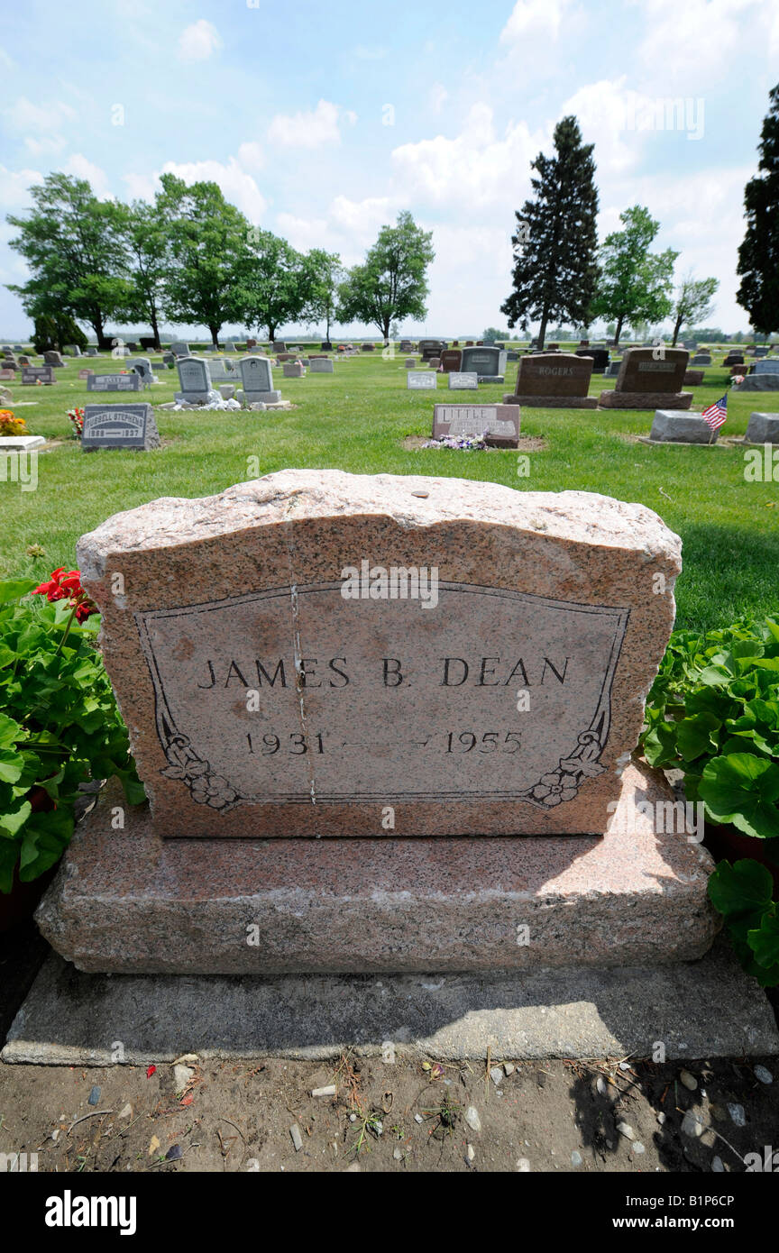 James Byron Dean Boyhood hometown and burial place Fairmount
