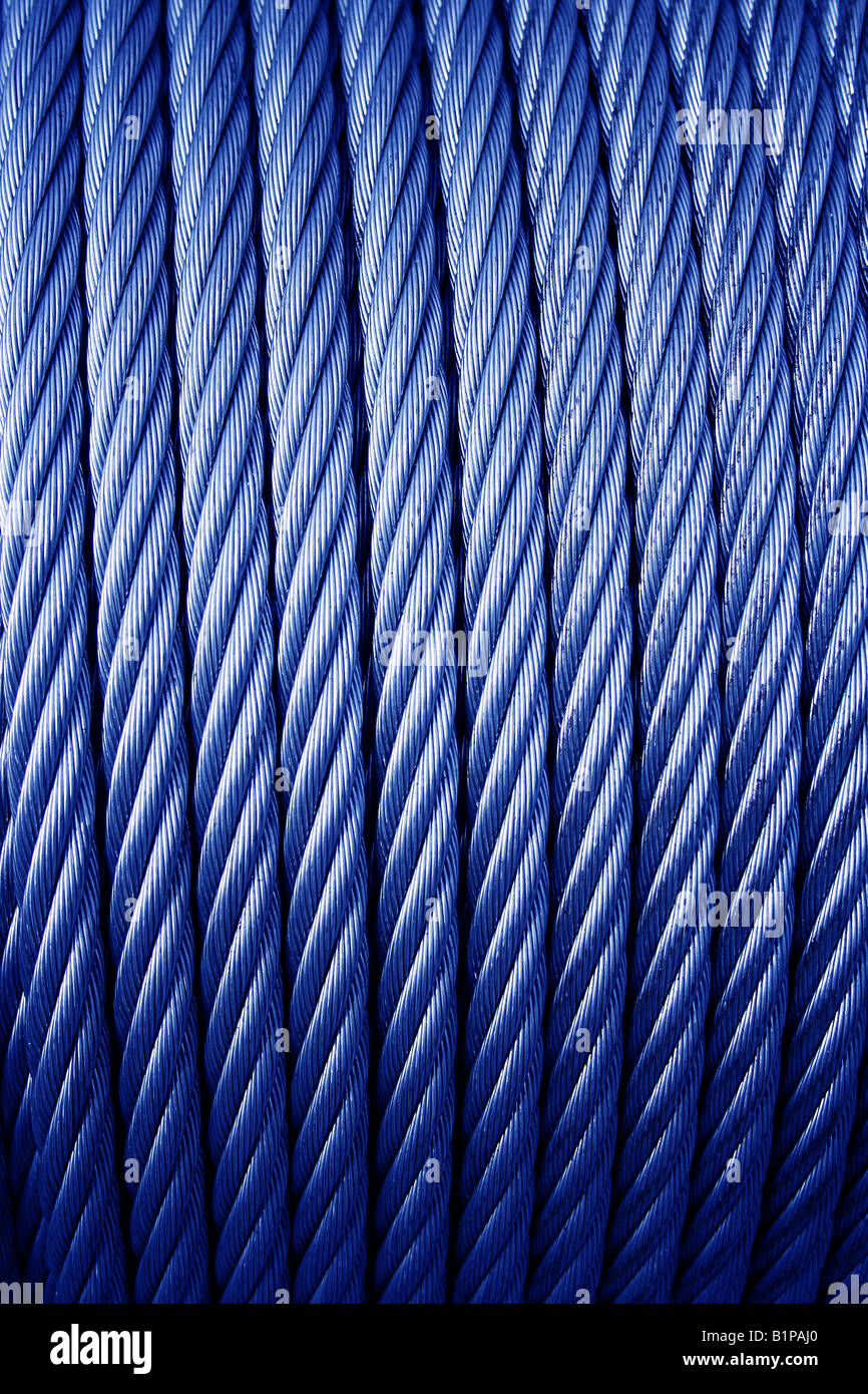 Coiled stainless steel wire cable/rope Stock Photo: 18316312 - Alamy