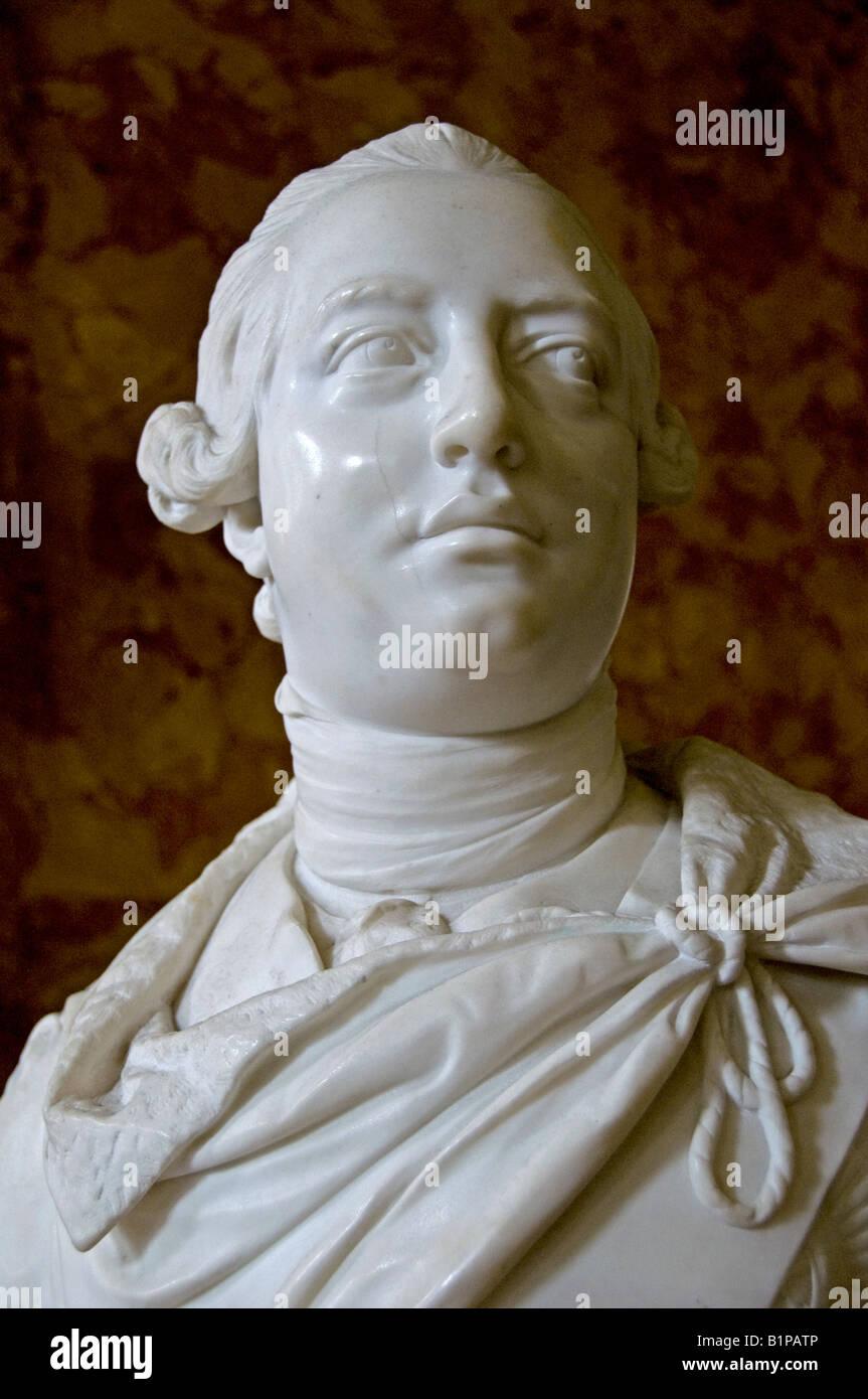 King George 3 III 1760 1820 John Nost III the Younger 1767 - Stock Image