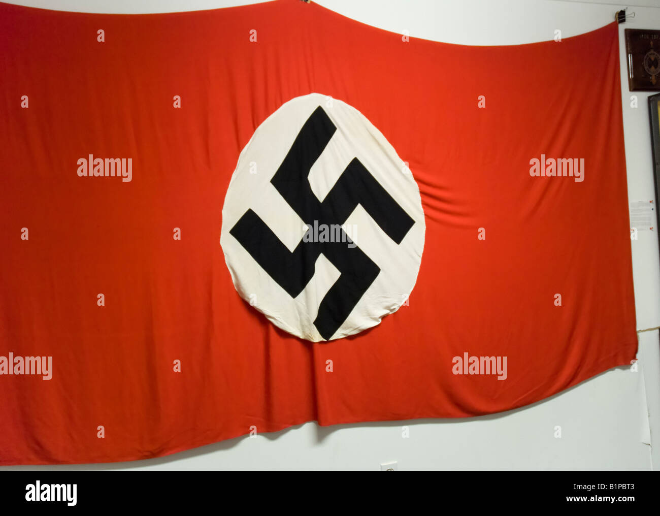 Nazi Germany flag from WW2 at museum, Carrabelle, Florida. - Stock Image