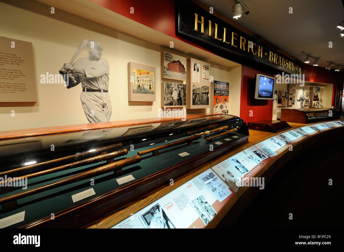 Louisville Slugger Baseball factory and Hillerich Bradsby museum at Louisville Kentucky KY - Stock Image