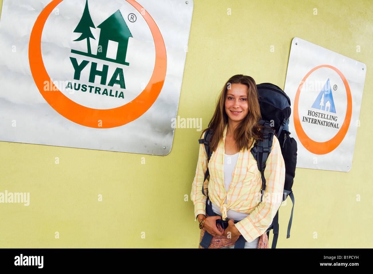 Backpacker - Cairns, Queensland, AUSTRALIA - Stock Image
