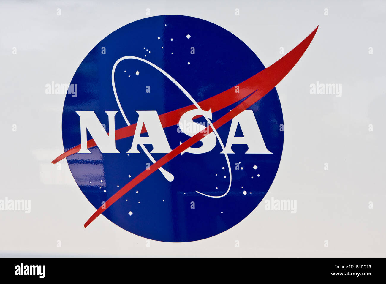 NASA Seal and Logo Sign - Stock Image