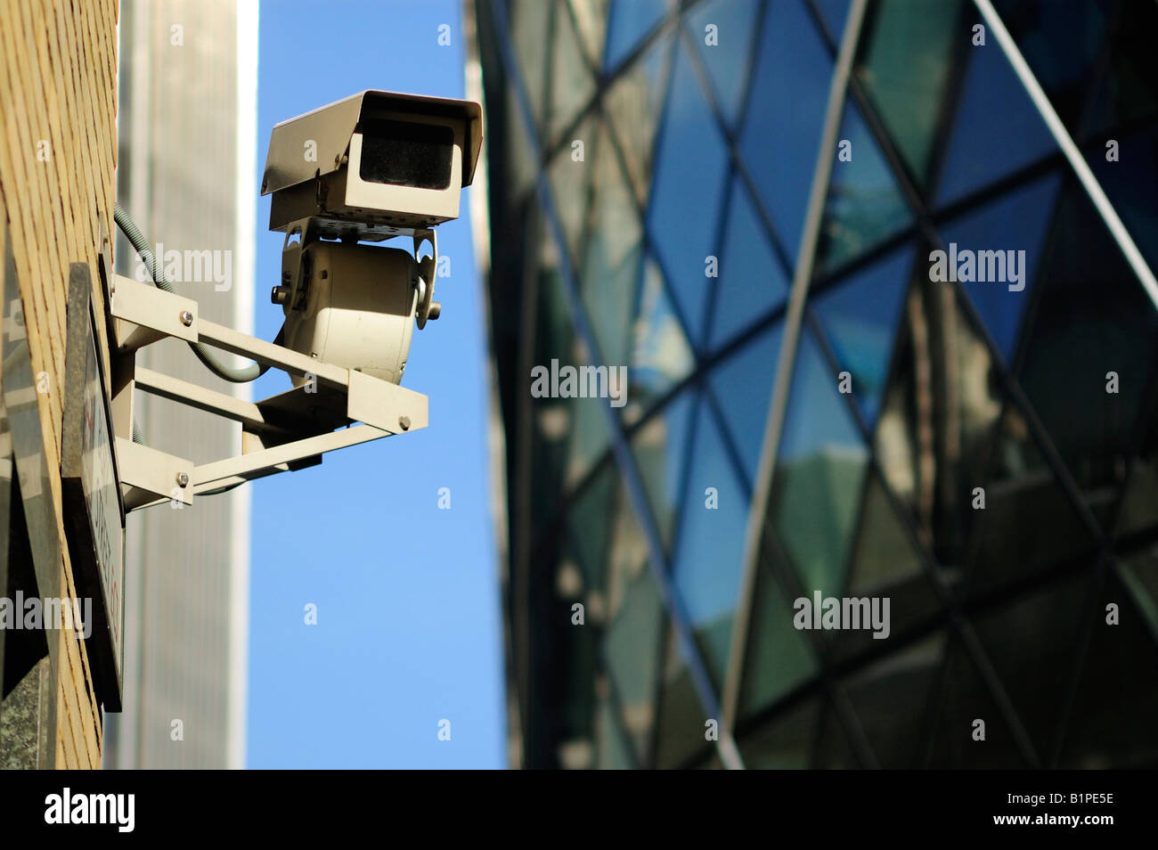 Close Circuit Television Camera for Security Purposes Stock Photo