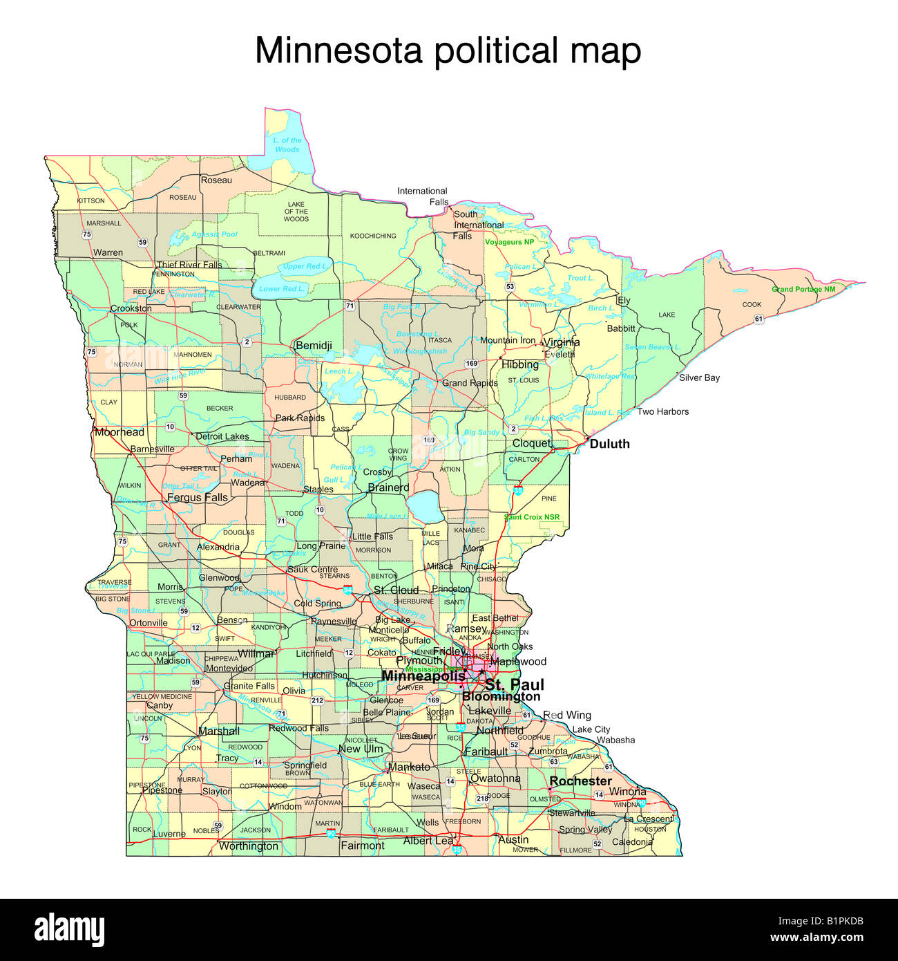Image of: Minnesota State Map High Resolution Stock Photography And Images Alamy