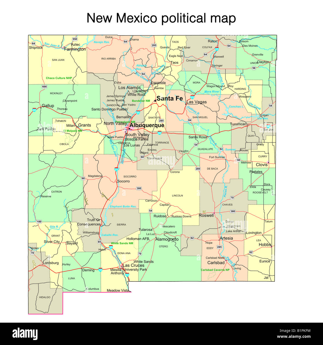 New Mexico State Map Stock Photos New Mexico State Map Stock