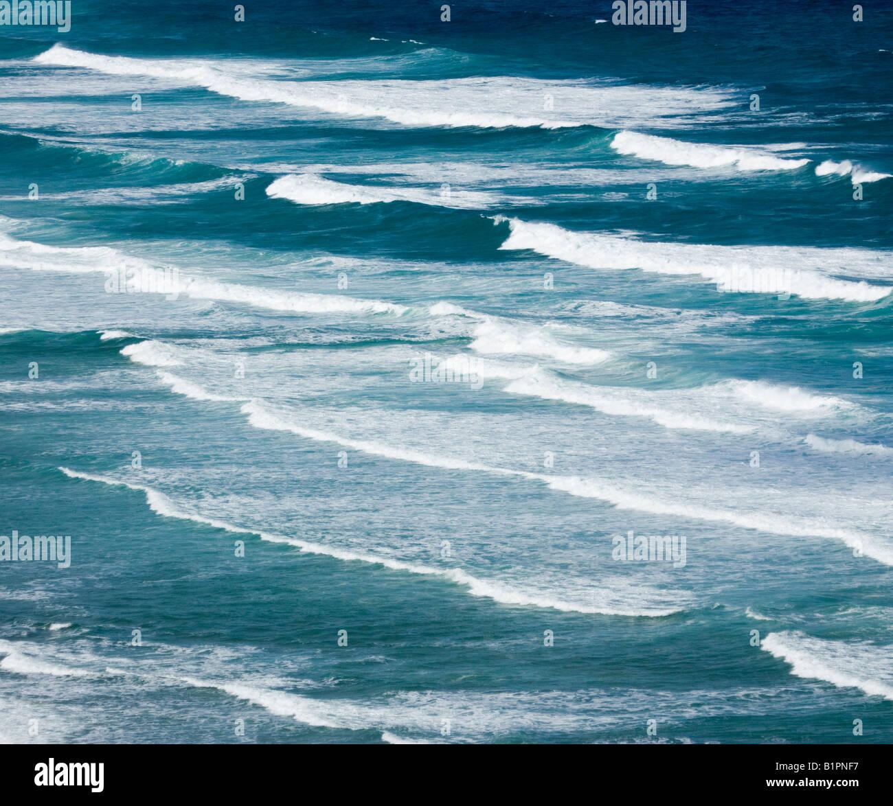 Atlantic Surf Cornwall UK - Stock Image