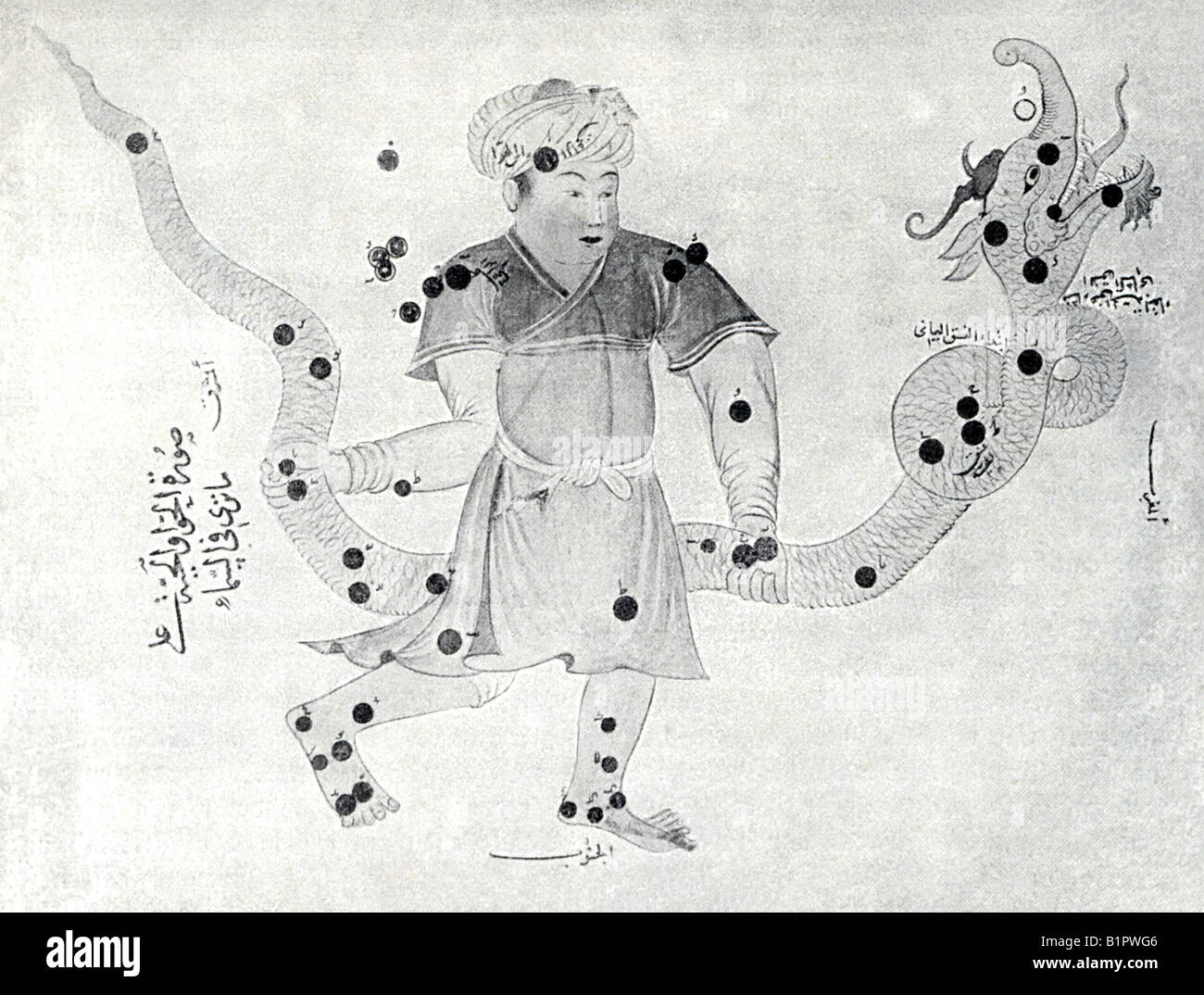 Image in Arab Work on Astronomy - Stock Image