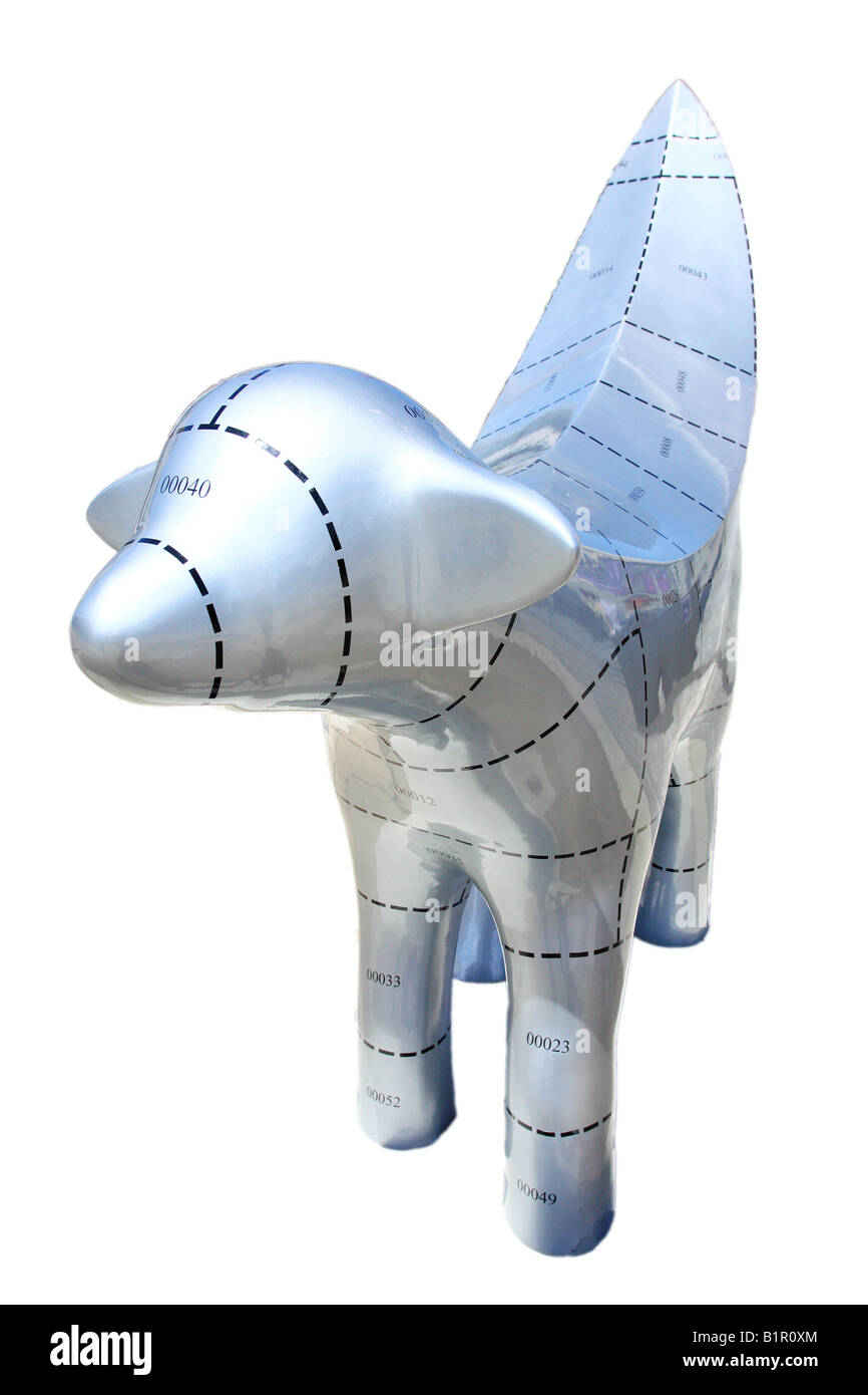 Cut out image of one of 120 Superlambanana sculptures placed in and around Liverpool to celebrate the Capital of - Stock Image